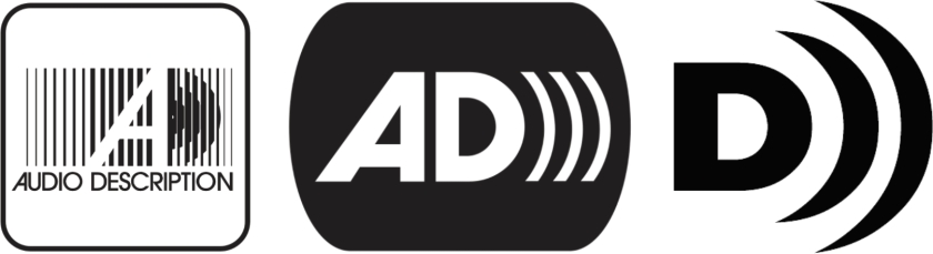 Various logos for audio description and described video