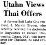 Utahn Views Thai Offers