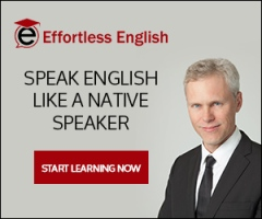 A.J. Hoge Effortless English ad